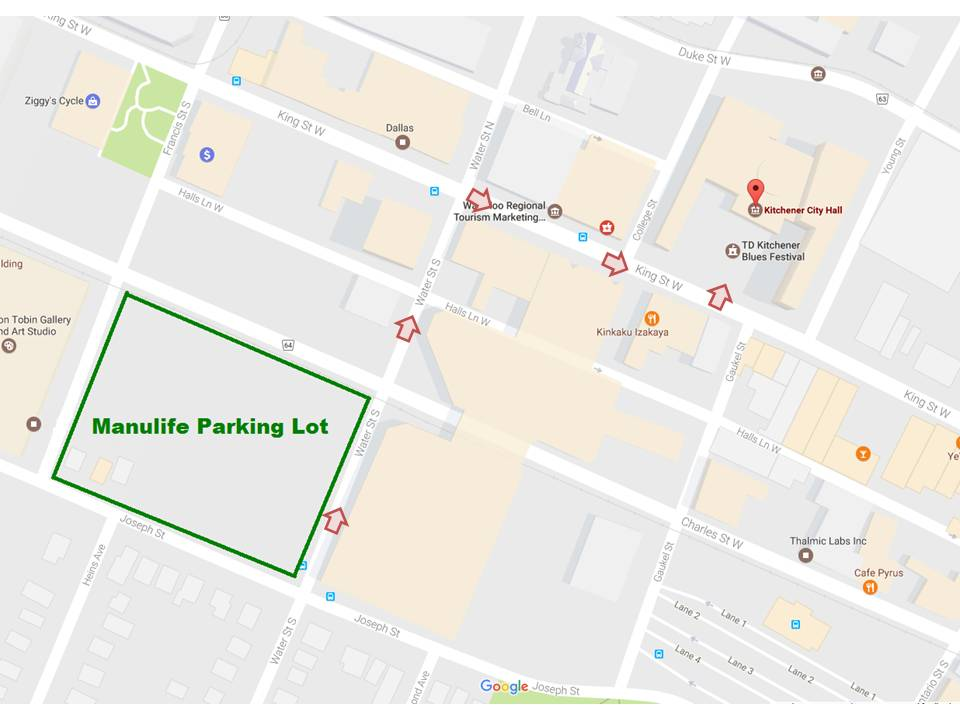 Click to Enlarge - Parking Lot Map for PMP Course